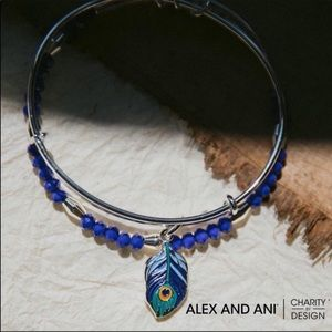 Alex and Ani Peacock Set Bangles